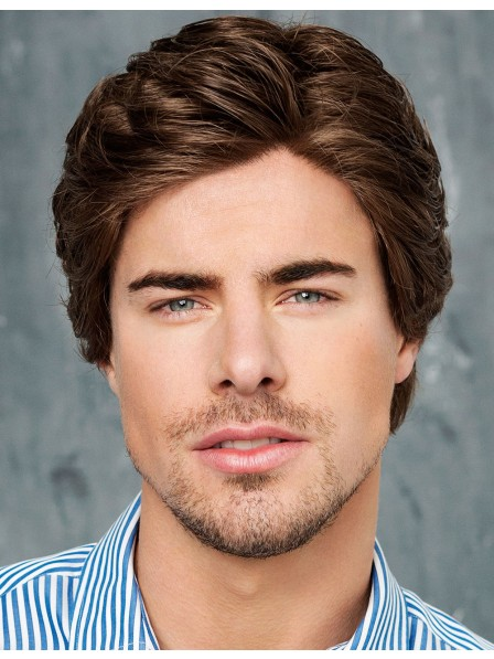 100% Hand Tied and  Wavy Men's Hair Wigs