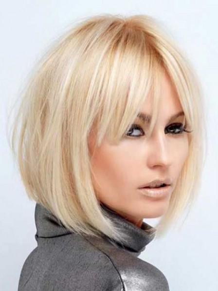 10 Inches High Quality Remy Human Hair Celebrity Wigs Bob Style