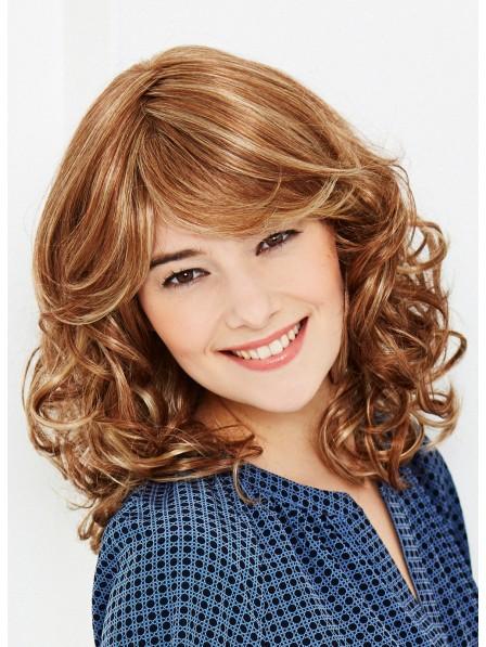 Human Hair Capless Women Wig Shoulder Length
