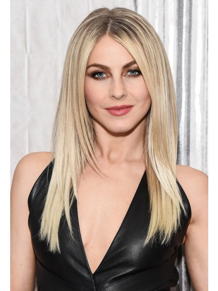 Long Straight Human Hair Blonde Wigs With Middle Part Best Wigs Online Sale Rewigs Com