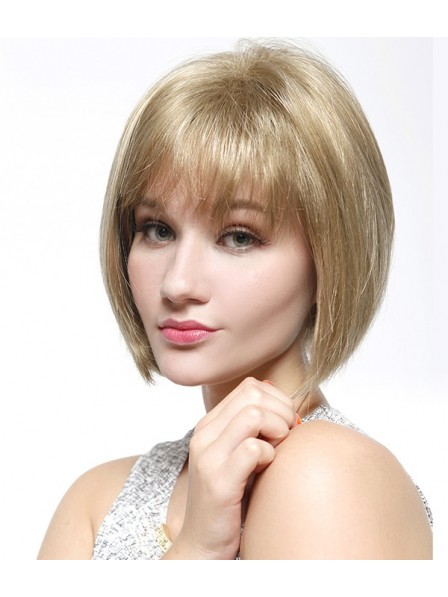 Chin Length Lace Front Mono Top Blonde Bob Wig