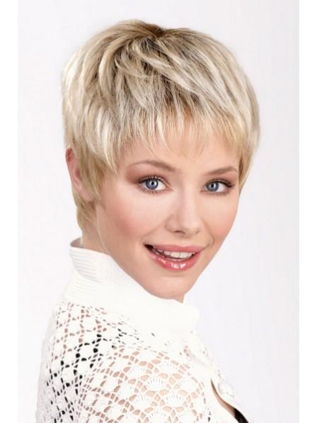 Cute Boy Cut Women Blonde Hair Wigs ee49f2dd1ae2