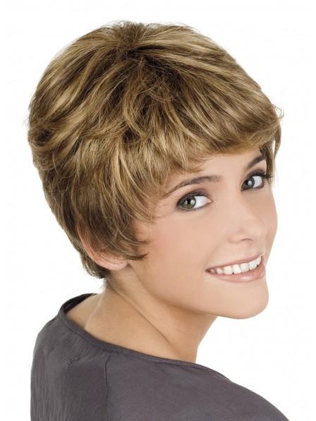 Cute Boy Cut Women Short Capless Wig
