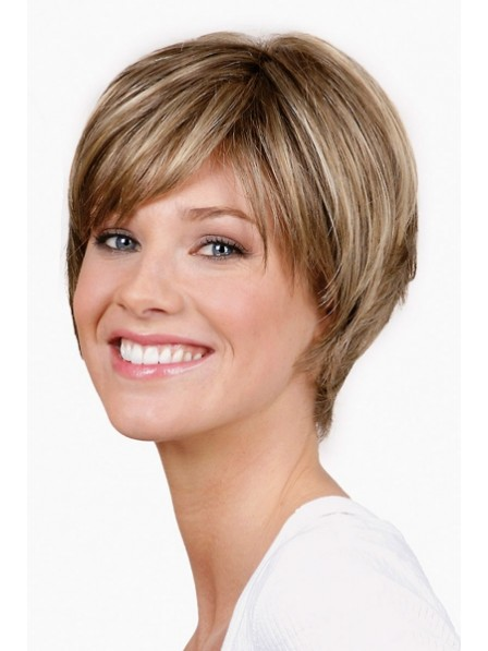 Honey Blonde Short Boy Cut Ladies Wigs Best Wigs Online Sale