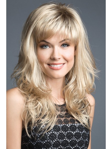 Long Feather Cut Blonde Hair Wig
