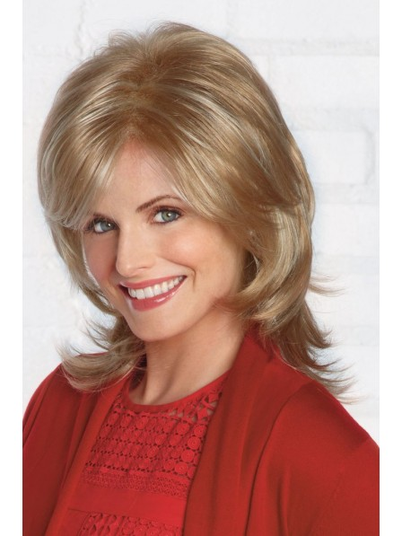 Natural Straight Lace Front Mono Top Women Wig