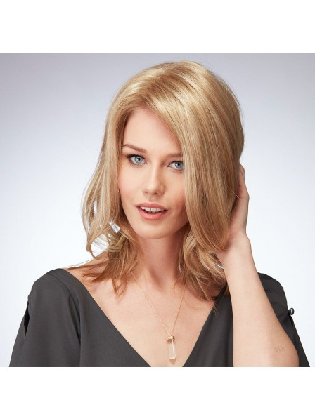 Shoulder Length Lace Front Mono Top Human Hair Wig