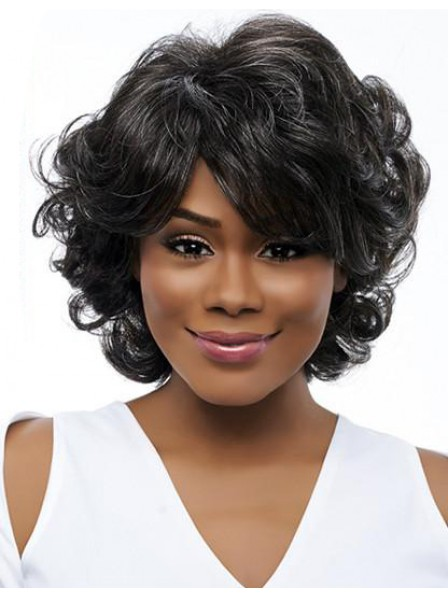 50 years old women grey rinka curly hairstyle wigs
