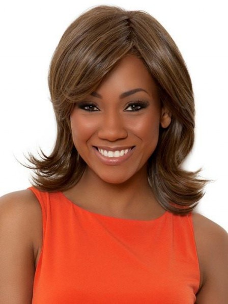 African American Layered Shoulder Length Women Wig