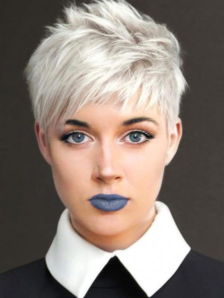 Awesome White Pixie Cut Ladies Wig Discounted Synthetic