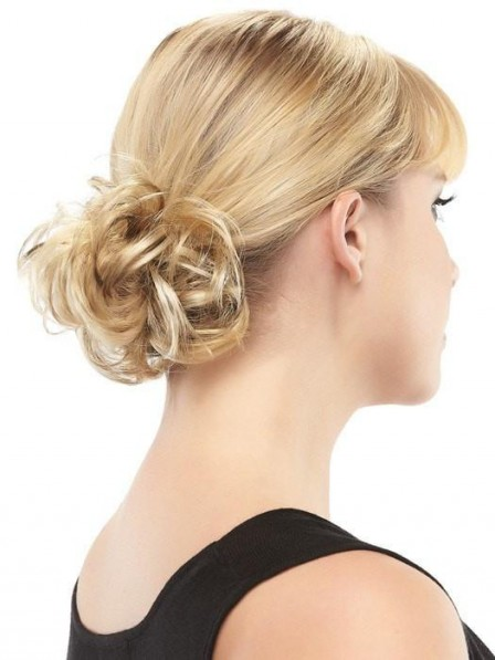 Blonde Curly Ponytail Wrap