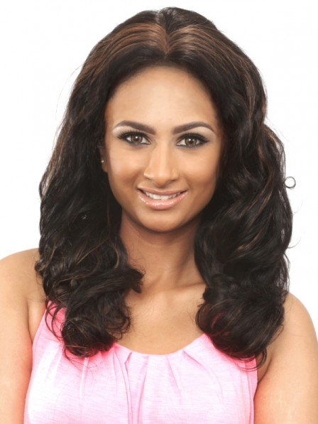 Body wavy Middle Part beautiful hair wigs for black women
