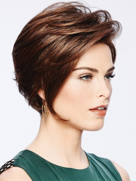 Chin-length Bob Wig with Front Layers