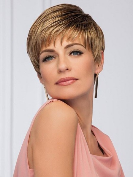 Classic Short Pixie Cut Wig With Bang