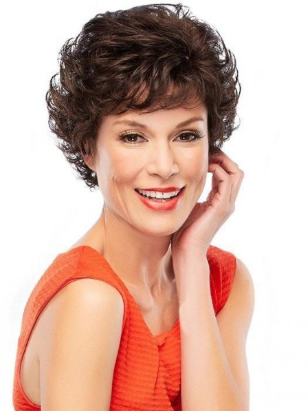 Curly Bouffant Style Short Curly Wig