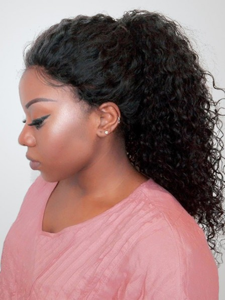 Deep Curly 360 Lace Frontal Wigs For Black Women 150 Density Lace Wigs