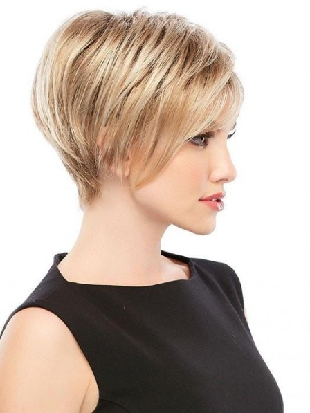 Fashion Short Cut Lace Front Blonde Wig