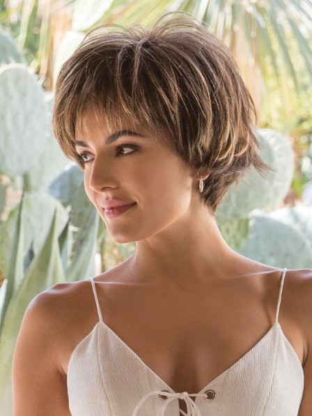 Fashion Short Straight Wigs For Women with Full Bangs