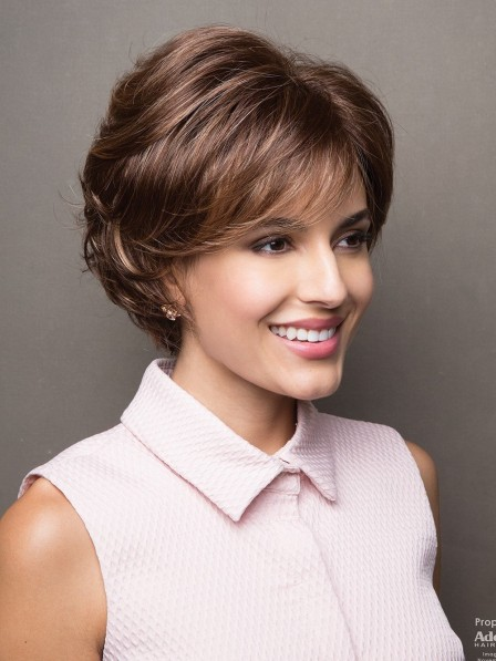 Fashion Synthetic Short Brown Wavy Hair Wig