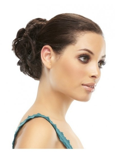 """4"""" Black 100% Human Hair Elastic Net Hair Wraps"""