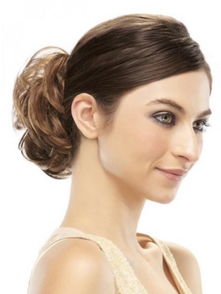 """6"""" Brown 100% Human Hair Claw Clip Hair Wraps"""
