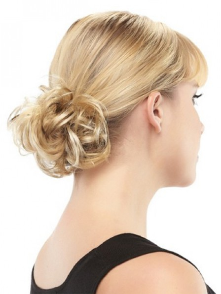 """4"""" Blonde 100% Human Hair Scrunchie Hair Wraps"""