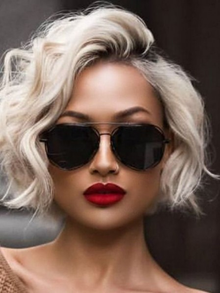 Hot Sale Full Lace Short Curly 100 Grey Wigs 2019 100