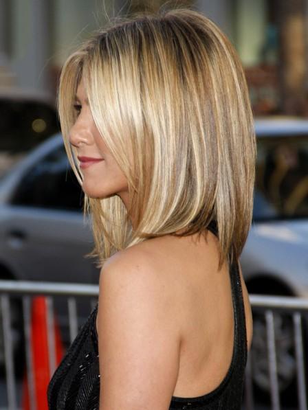 Jennifer Aniston S Medium Straight Bob Cut Hair Wig Rewigs Com