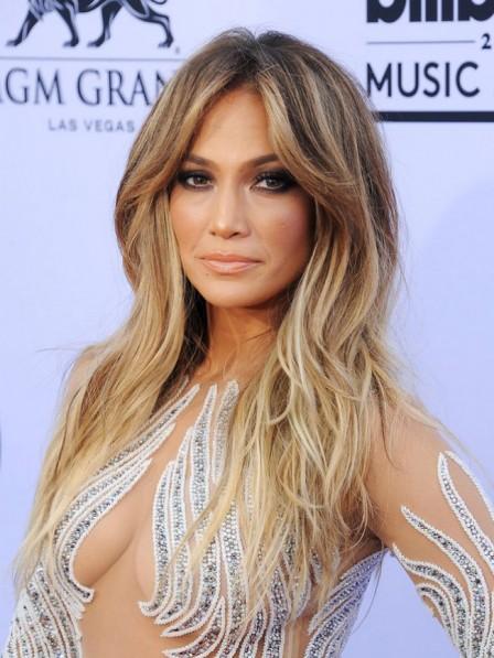 Jennifer Lopez Long Layered Straight Blonde Wig