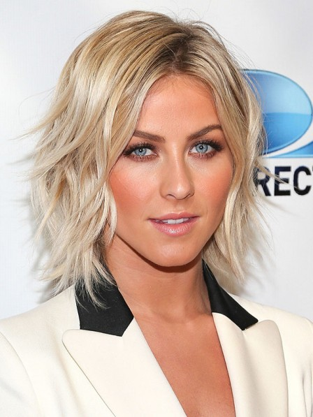 Julianne Hough Short Layered Curly Synhetic Hair Wig
