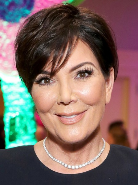 Kris Jenner Short Layered Straight Fast Delivery Brazilian Human Hair Wig