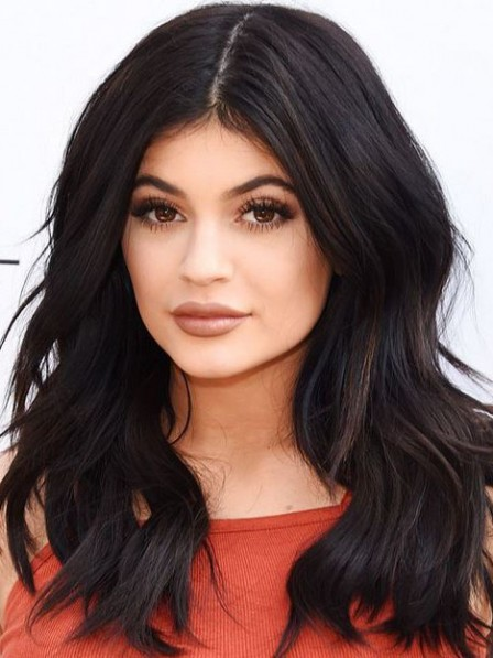 Kylie Jenner Natural Black Lace Front Human Hair Wig