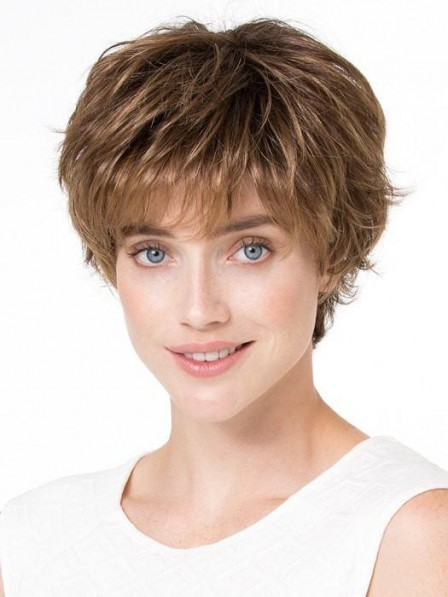 Lace Front Monfilament Short Synthetic Wig