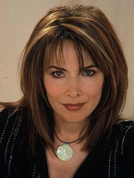 Lauren Koslow Shoulder Length Synthetic Capless Wig For Women Over 40