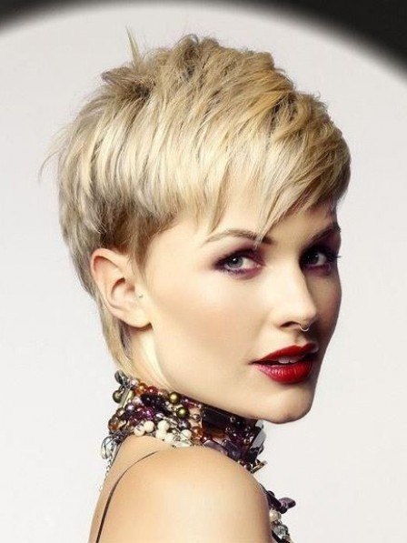 Layered Lace Front Pixie Cut Synthetic Celebrity Wigs With