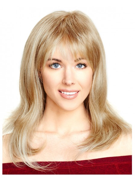 Long layered style with body waves Blonde wig