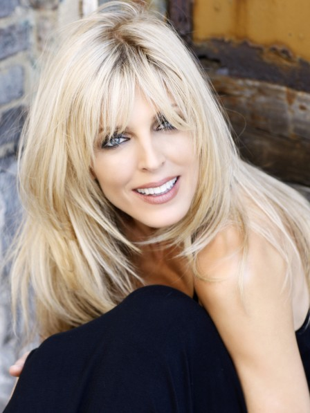 Marla Maples Long Blonde Human Hair Capless Wig