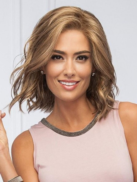 Medium Synthetic Bob Style Lace Front Wig
