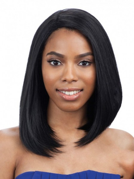 Model freedom part hair medium Straight bob human wigs