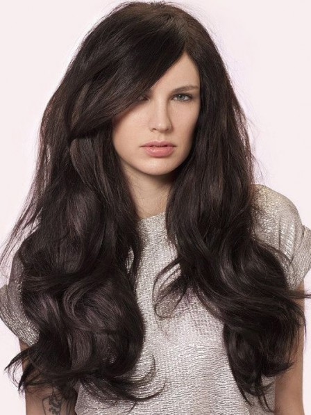 Modern Full Lace Synthetic Wavy Celebrity