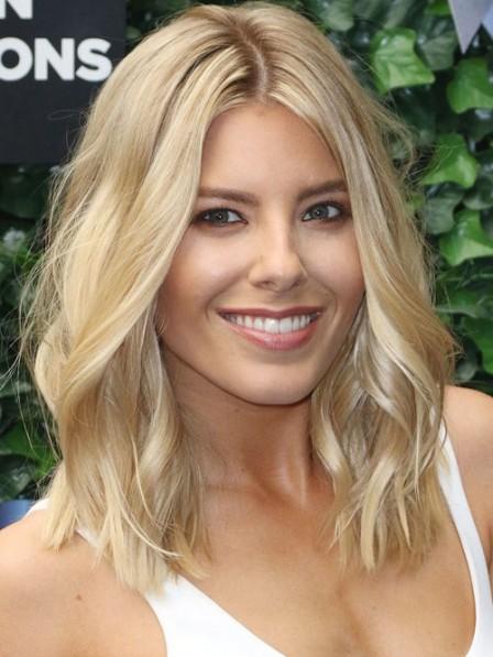 shoulder length blonde curly hair mollie king s shoulder length blonde wavy human hair lace