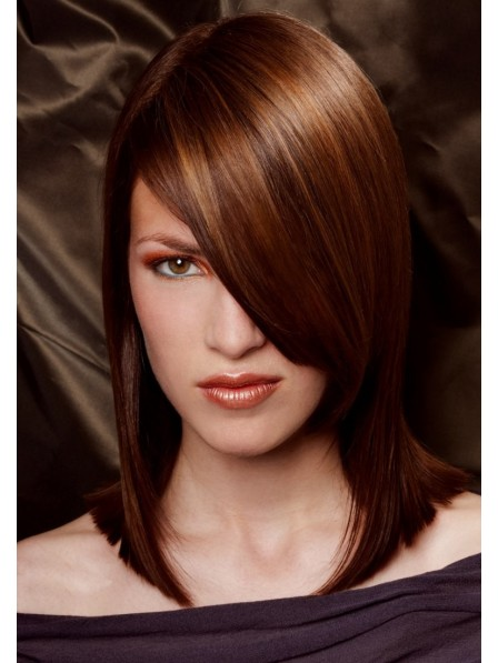 Synthetic Hair Mid-Length Straight Wig