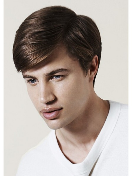 Straight Mens Hairstyle With Side Wig