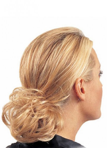 "4"" Wavy Red Heat Friendly Synthetic Hair Elastic Net Hair Wraps"