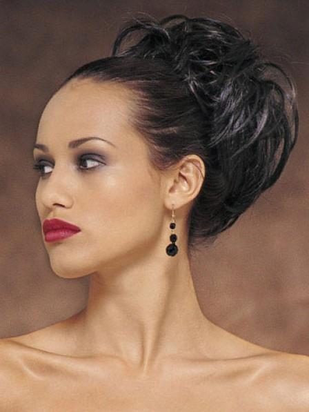 "5"" Wavy Black Heat Friendly Synthetic Hair Claw Clip Hair Wraps"