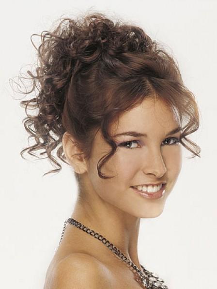 """5"""" Curly Auburn Heat Friendly Synthetic Hair Claw Clip Hair Wraps"""