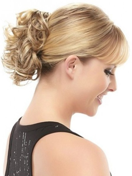 "8"" Curly Blonde Hair Claw Clip Hair Wraps"
