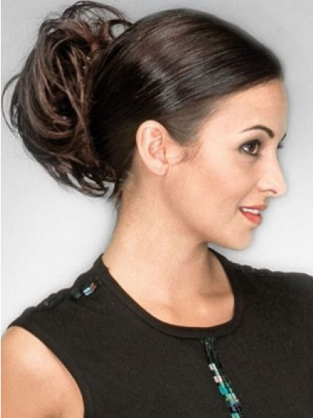 "5"" Wavy Auburn Heat Friendly Synthetic Hair Claw Clip Hair Wraps"