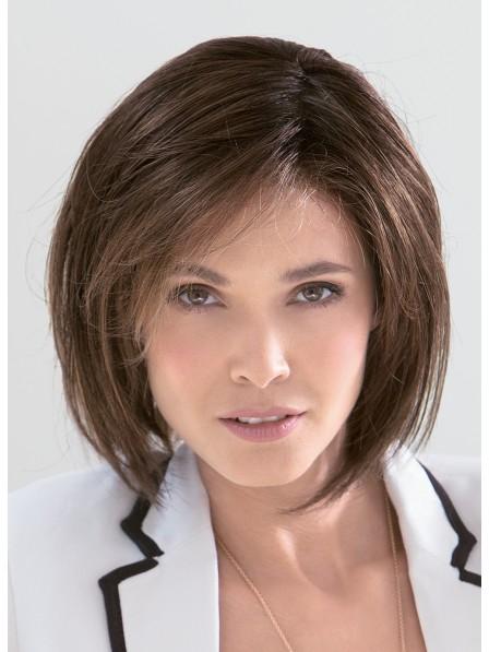 """6"""" Straight Brown 100% Human Hair Mono Hair Pieces"""