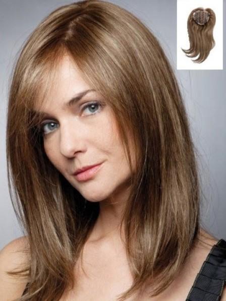"""16"""" Straight 100% Human Hair Mono Hair Pieces"""